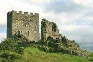Castell Dolwyddelan, mae'n debygol mai dyma lle cafodd Madog ei eni. Dolwyddelan Castle, reputed birthplace of Madoc